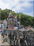 SS7249 : The Lynton Cliff Railway as seen from  the seafront by Nigel Thompson
