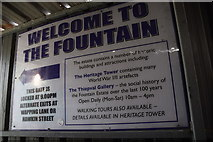 C4316 : Welcome to the Fountain notice, Derry / Londonderry by Kenneth  Allen