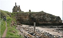NO5101 : Cliff beside Newark Castle by Richard Sutcliffe