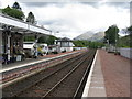 NN1527 : Dalmally station, West Highland Line by M J Richardson