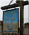 ST6092 : Anchor Inn name sign, Oldbury-on-Severn by Jaggery
