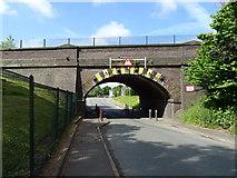 SJ4068 : Railway bridge over Mill Lane by JThomas