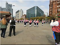 SJ8397 : Morris Dancers at Manchester Central by Gerald England
