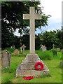 SP6029 : The war memorial in Fringford churchyard by Steve Daniels