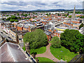 SO5039 : North-west from Hereford Cathedral tower by Brian Robert Marshall