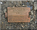J5182 : Electricity warning brick, Bangor by Rossographer