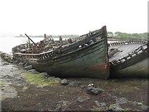 NM5643 : Boat wrecks near Salen by M J Richardson