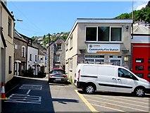 SX2553 : Church Street side of Looe Community Fire Station by Jaggery
