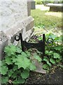 SH8767 : Boot scraper at St Digain's Church, Llangernyw by Meirion