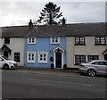 SO2316 : Blue house in Glangrwyney, Powys by Jaggery