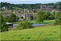 ST6834 : View over Bruton from the dovecote by David Martin