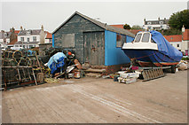 NO5201 : Quayside shed, St Monans by Richard Sutcliffe