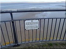 ST1972 : Notice on Cardiff Bay Breakwater by Eirian Evans