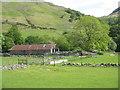 NM9835 : Farm buildings at Inveresragan by M J Richardson