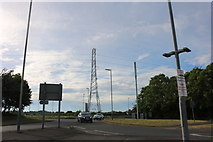 ST9074 : Pylon by Bristol Road, Chippenham by David Howard