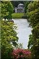 ST7734 : Stourhead Garden: view across lake towards the Pantheon by David Martin