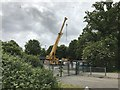 TF4510 : Construction work at Peckover School in Wisbech by Richard Humphrey