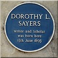 SP5105 : Dorothy L Sayers Blue Plaque by Philip Halling