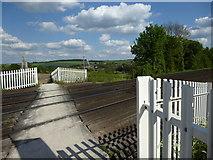 TQ5365 : The Darent Valley Path crosses the railway by Marathon