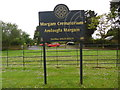 SS7986 : Margam Crematorium Sign Board (1) by David Hillas