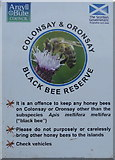 NM8529 : Animal health notice at Oban Ferry Terminal by M J Richardson