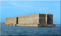SY6874 : Mulberry Harbour Sections by Des Blenkinsopp