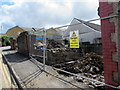 SO1500 : Danger - deep excavation - KEEP CLEAR, Pant Street, Aberbargoed by Jaggery
