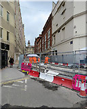 SP0686 : Pinfold Street: tramway works by John Sutton
