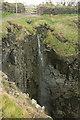 SW8676 : Waterfall by Mother Ivey's Bay by Derek Harper