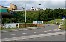 ST1599 : Entrance to Morrisons Refuel, Bargoed by Jaggery