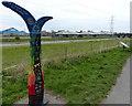 SJ3069 : Millennium milepost along the Wales Coast Path by Mat Fascione