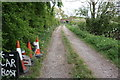 SK8138 : Track towards railway bridge from Grantham Road by Roger Templeman