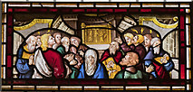TG2308 : North ambulatory stained-glass window detail, Norwich Cathedral by Julian P Guffogg