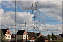 SP7915 : Pylon by the A41, Quarrendon by David Howard
