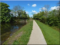 NS4760 : Upper Glen Dam: path along embankment by Lairich Rig