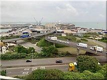 TR3140 : Dover western docks by Andrew Abbott