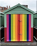 TQ2804 : Hove Pride Beach Hut by PAUL FARMER