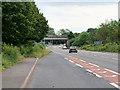 SJ5212 : Railway Bridge over the A49 by David Dixon