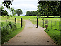 SJ5509 : Gate to the Deer Park at Attingham Park by David Dixon
