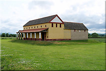 SJ5608 : Reconstruction of a Roman Town House at Wroxeter (Viroconium) by David Dixon