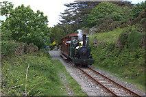SC4278 : Groudle Glen railway train at Lime Kiln Halt by Robert Eva