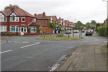 SJ7894 : Roundabout on Bradfield Road by Bill Boaden