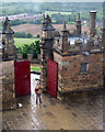 SK4770 : Bolsover Castle: a visitor taking a photo by John Sutton