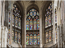 TG2308 : Presbytery clerestory windows, Norwich Cathedral by Julian P Guffogg