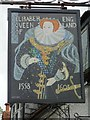 SO9841 : Inn sign, Queens Head by Philip Halling