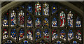 TG2208 : South aisle east window tracery, St Peter Mancroft church by J.Hannan