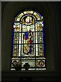 SE2918 : St Peter & St Leonard, Horbury - war memorial window by Stephen Craven