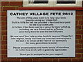 SP1780 : Village Hall notice, Catherine-de-Barnes near Solihull by Roger  Kidd