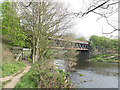 SE2917 : Horbury West Curve bridge over the River Calder by Stephen Craven