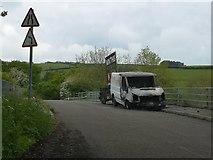 ST0104 : Mid Devon : Road by Lewis Clarke